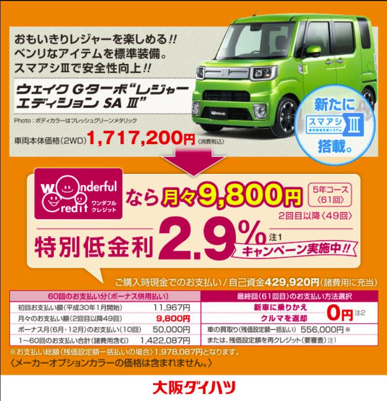 """ウェイクGターボ""""レンジャーエディションSAⅡ""""の広告"""